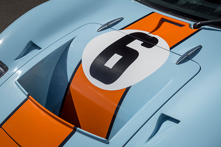 Gulf livery 2017 GT40 for sale as listed in the Shelby World Registry
